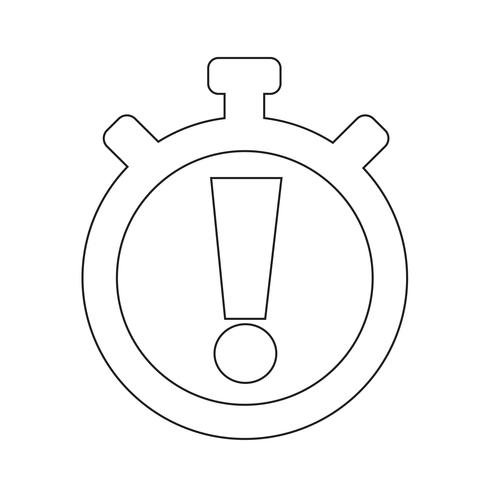 Teken van stopwatch pictogram vector