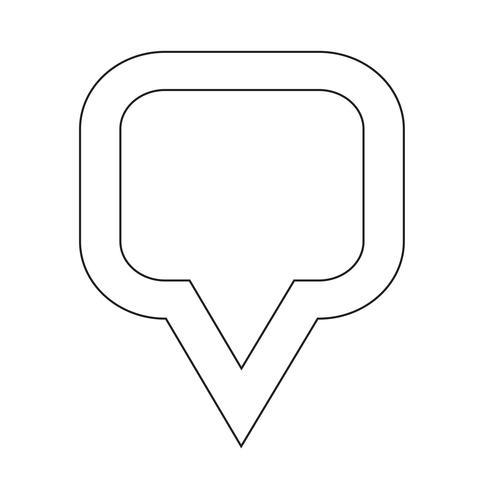 kaart aanwijzer gps pictogram vector