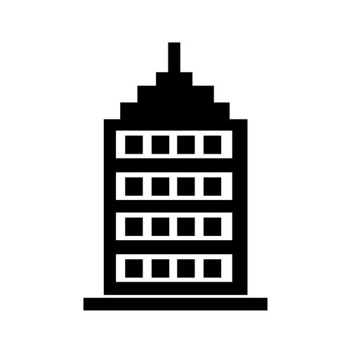 Teken van het bouwen van pictogram vector
