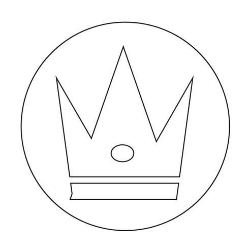 Teken van Crown pictogram vector