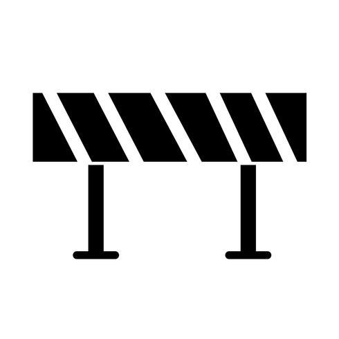 Weg barrière pictogram vector