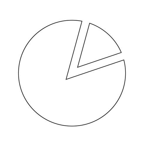 Eenvoudige diagram grafiek pictogram vectorillustratie vector