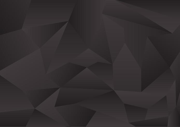 Abstracte zwarte het ontwerp vectorachtergrond eps10 van de kleurenveelhoek met exemplaarruimte vector