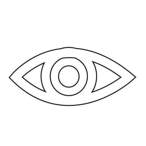 oog pictogram vectorillustratie vector