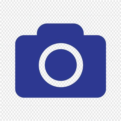Camera pictogram vectorillustratie vector