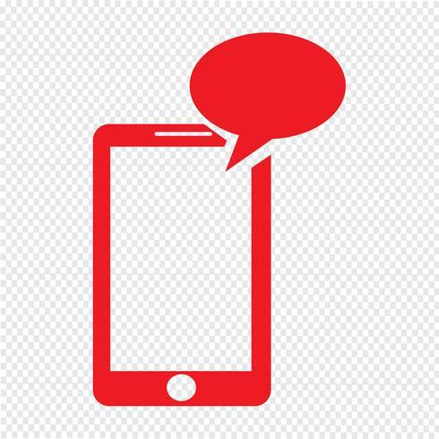 smartphone pictogram vectorillustratie vector