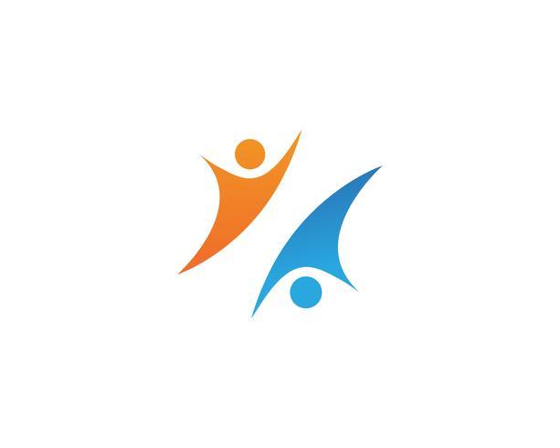 leiderschap succes mensen gezondheid leven logo sjabloon pictogrammen vector