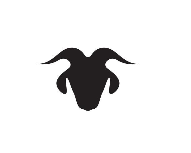 Bull horn logo en symbolen sjabloon pictogrammen app vector
