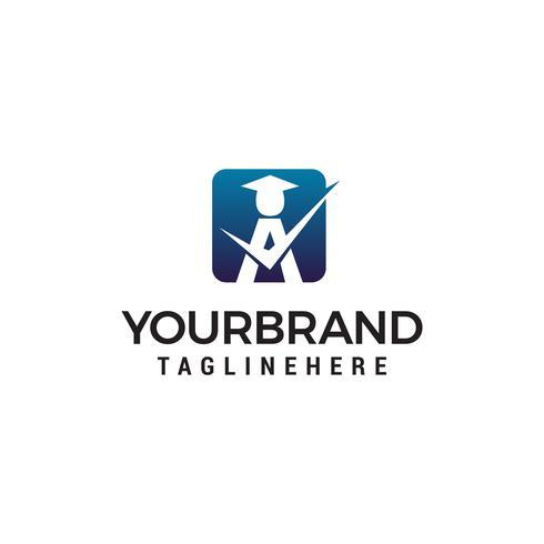 student een logo-ontwerp concept sjabloon vector