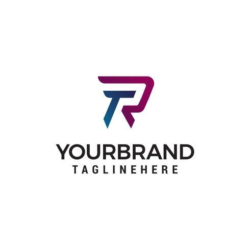 letter TR logo ontwerp concept sjabloon vector