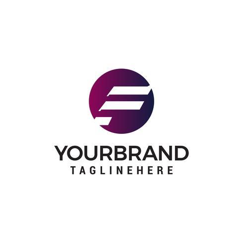 letter F hoofd logo ontwerp concept sjabloon vector