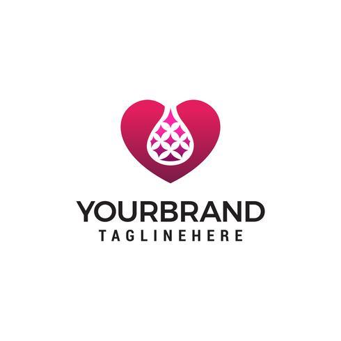lab hart logo ontwerp concept sjabloon vector
