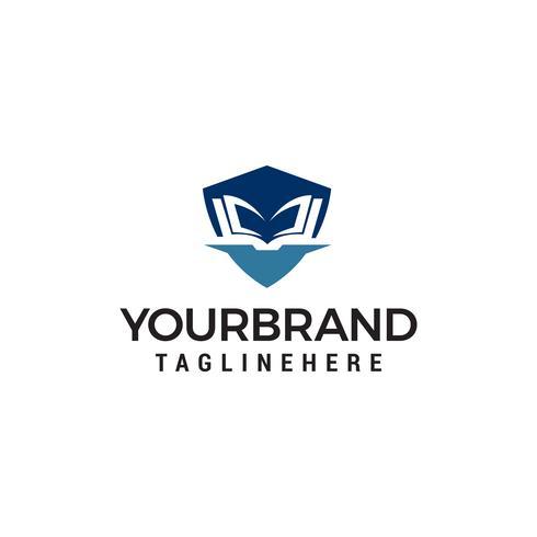 onderwijs shiled logo ontwerp concept sjabloon vector