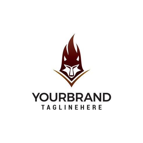 wolf logo ontwerp concept sjabloon vector