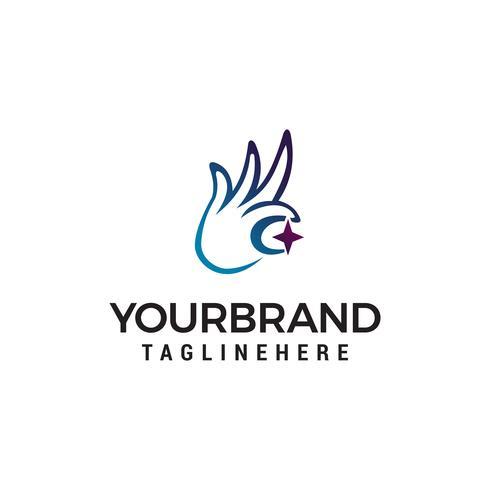hand ster logo ontwerp concept sjabloon vector