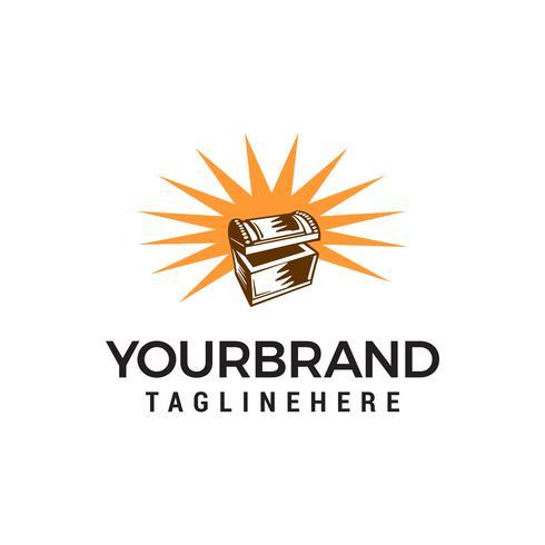 schatkist logo ontwerp concept sjabloon vector
