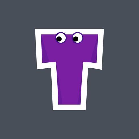 Alfabet Cartoon lettertype voor kinderen vector