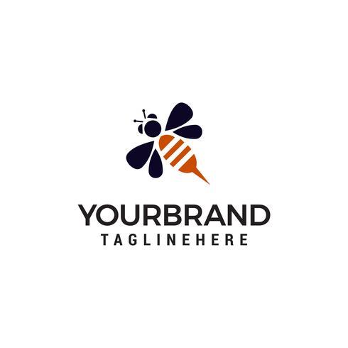 bee logo design concept sjabloon vector