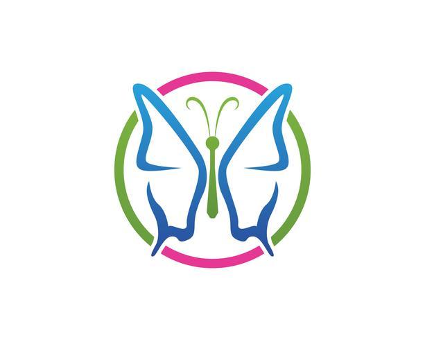 Vlinder conceptueel eenvoudig, kleurrijk pictogram. Logo. Vector illustratie