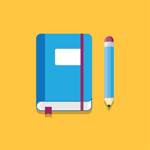 Notebook en potlood Vector