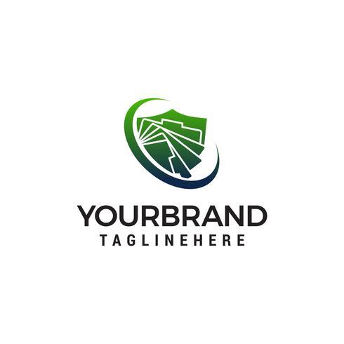 Document logo ontwerp concept sjabloon vector
