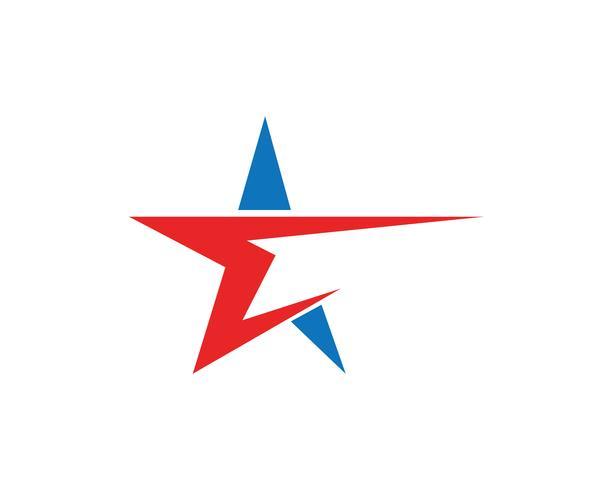 Star falcon Logo Template vector pictogrammen app
