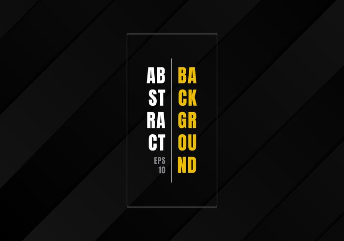 Abstract zwart gestreept geometrisch rechthoekpatroon herhaal en schaduw donkere achtergrond en textuurluxestijl. vector