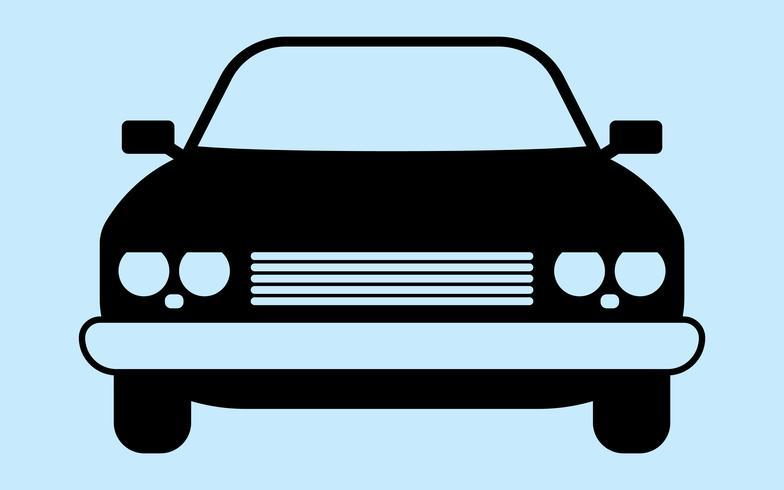 Retro autosilhouet vector