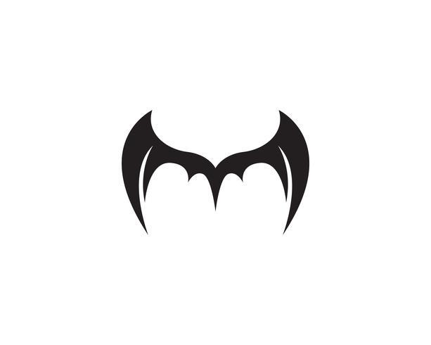 Wing bat logo en symbolen sjabloon pictogrammen vector