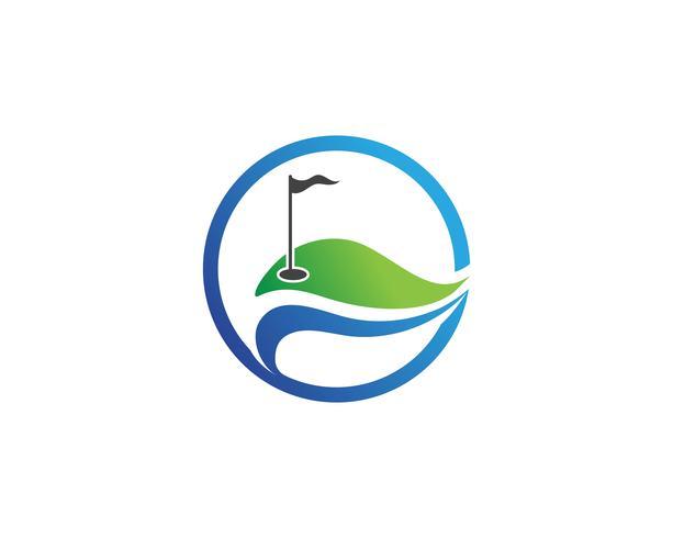 Golfclub pictogrammen symbolen elementen en logo vectorafbeeldingen vector