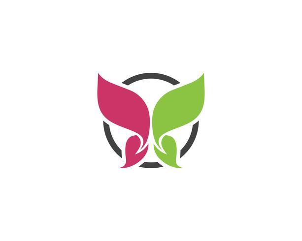 Vlinder conceptueel eenvoudig kleurrijk Embleem vector