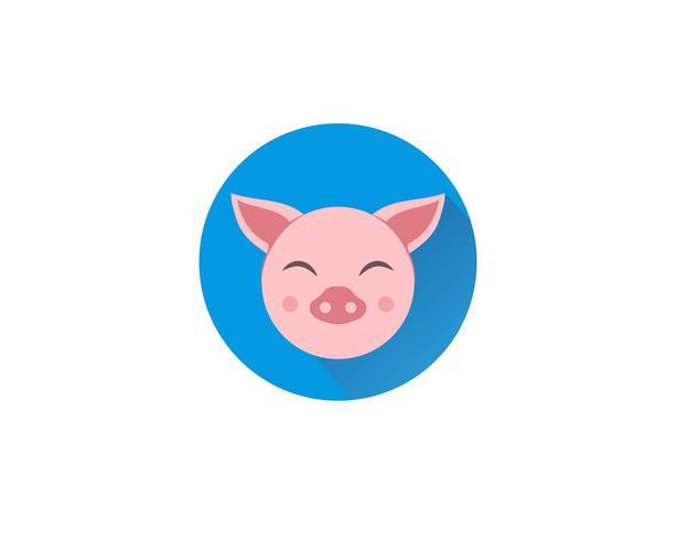Varken hoofd logo dier vector