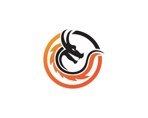 Dragon logo pictogram vector
