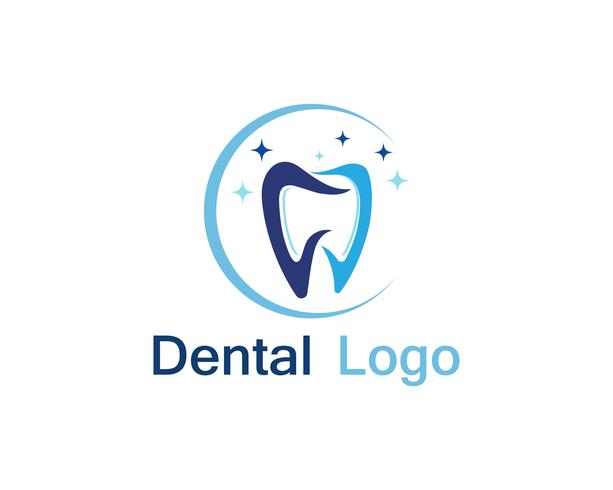 Tandheelkundige zorg logo en symbool vector