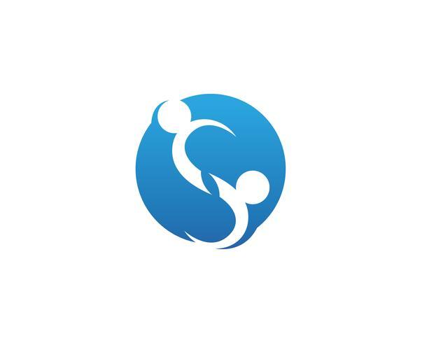familiezorg liefde logo en symbolen sjabloon vector