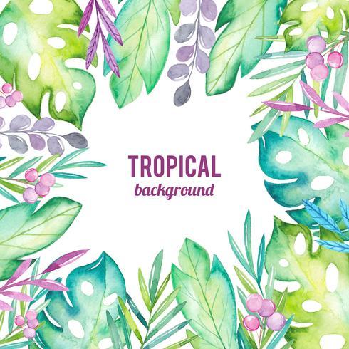 Aquarel tropische achtergrond vector