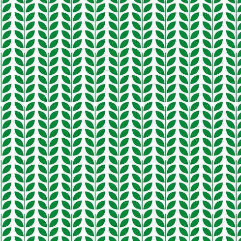 Groene blad patroon ontwerpsjabloon vector