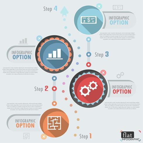 Plat Infographic ontwerp vector