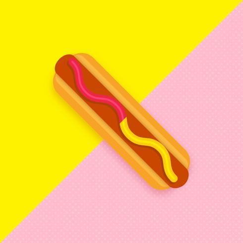 Hotdog Pop Vector Achtergrond