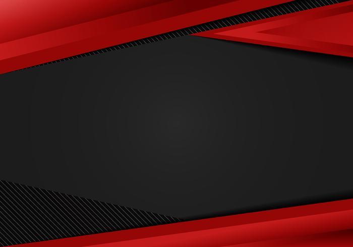 Abstracte sjabloon rode geometrische driehoeken contrast zwarte achtergrond. U kunt gebruiken voor corporate design, cover brochure, boek, banner web, reclame, poster, folder, flyer. vector