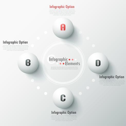 Moderne infographic optiesbanner. vector