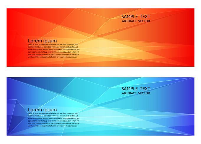 Abstracte geometrische rode en blauwe kleur, moderne achtergrond met kopie ruimte, vectorillustratie voor uw zakelijke banner vector