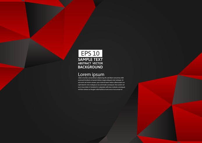 Rood en zwart kleuren veelhoek abstract modern ontwerp als achtergrond, Vectorillustratie vector