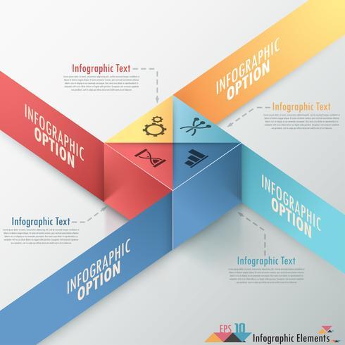 Moderne infographics opties Banner. vector