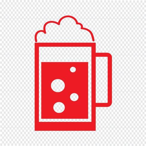 Drink pictogram vectorillustratie vector