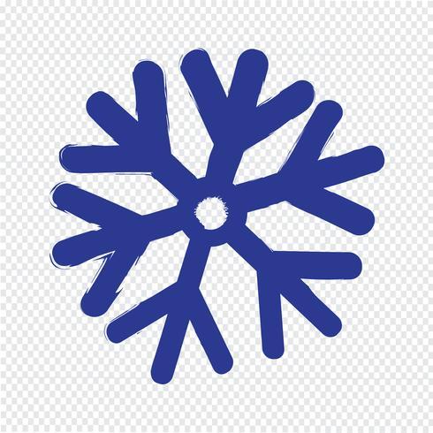 Sneeuwvlok pictogram vectorillustratie vector