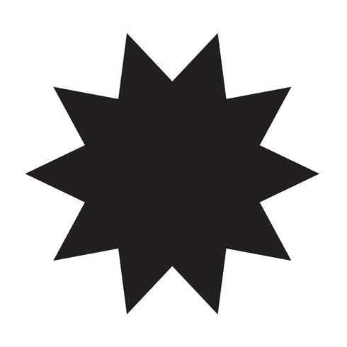 ster pictogram vectorillustratie vector