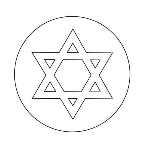 Star David-pictogram vector