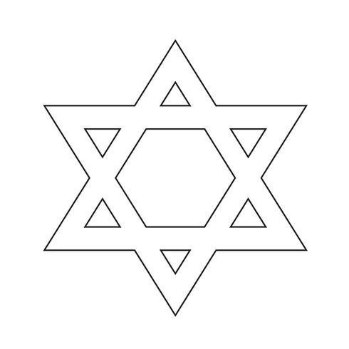 Ster David pictogram vectorillustratie vector