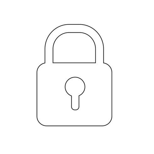 Lock pictogram vectorillustratie vector